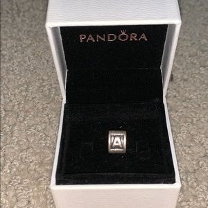 "Pandora Silver ""A"" Charm"
